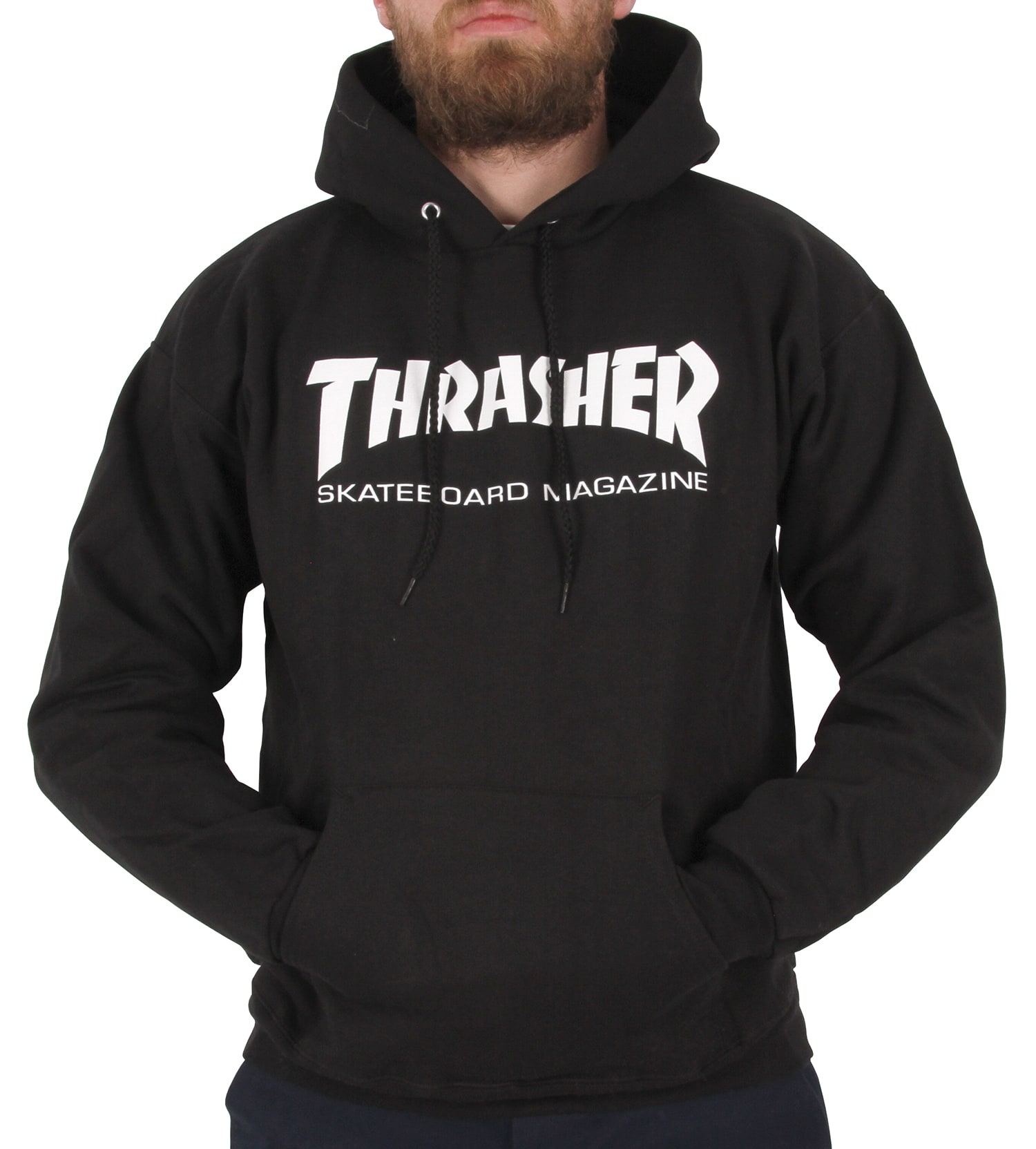 884d8877dcf Thrasher Skate Mag Logo Hoodie - Black   Thrasher Hoodie   Thrasher T Shirt    Thrasher UK   Thrasher Clothing   Caps   Skatehut