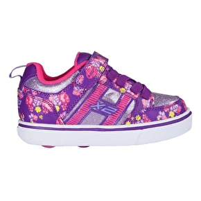 Heelys X2 Bolt Light Up - Purple/Pink/Floral