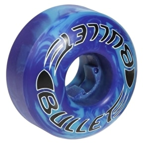 Bullet Skateboard Wheels - Swirl Rounds Purple/Blue 52mm