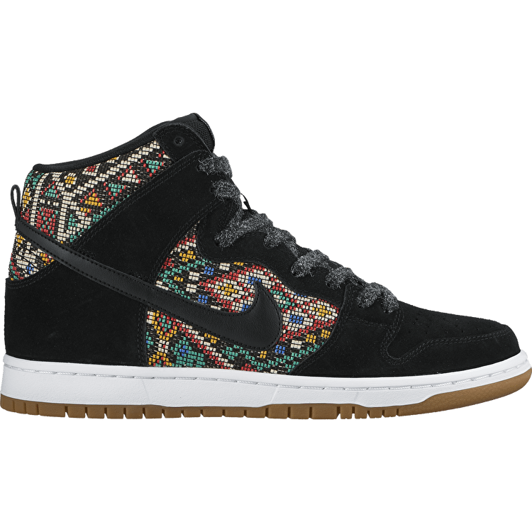 Nike SB Dunk High Premium Shoes - Black/Black/Rio Teal