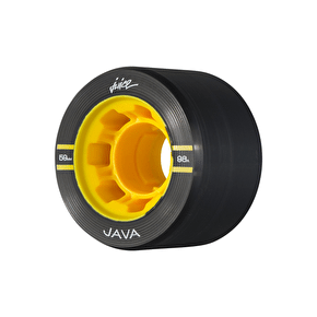 Juice Java Series Quad Roller Skate Wheels 59mm 98a - Black (Pack of 4)