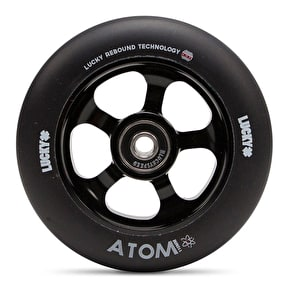 Lucky Atom 110mm Scooter Wheel - Black/Black (Single)