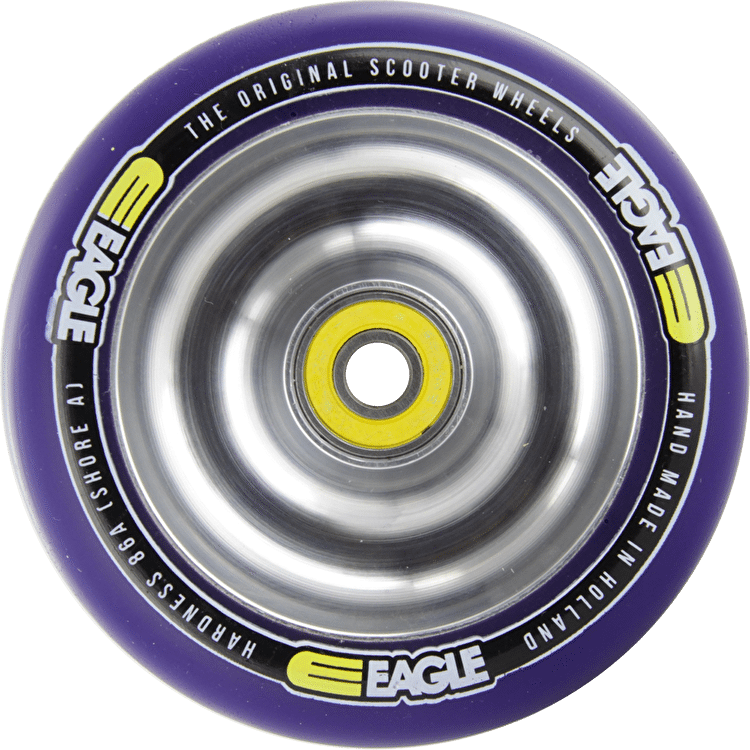 Eagle Polished Full Metal Purple PU Wheel - 100mm
