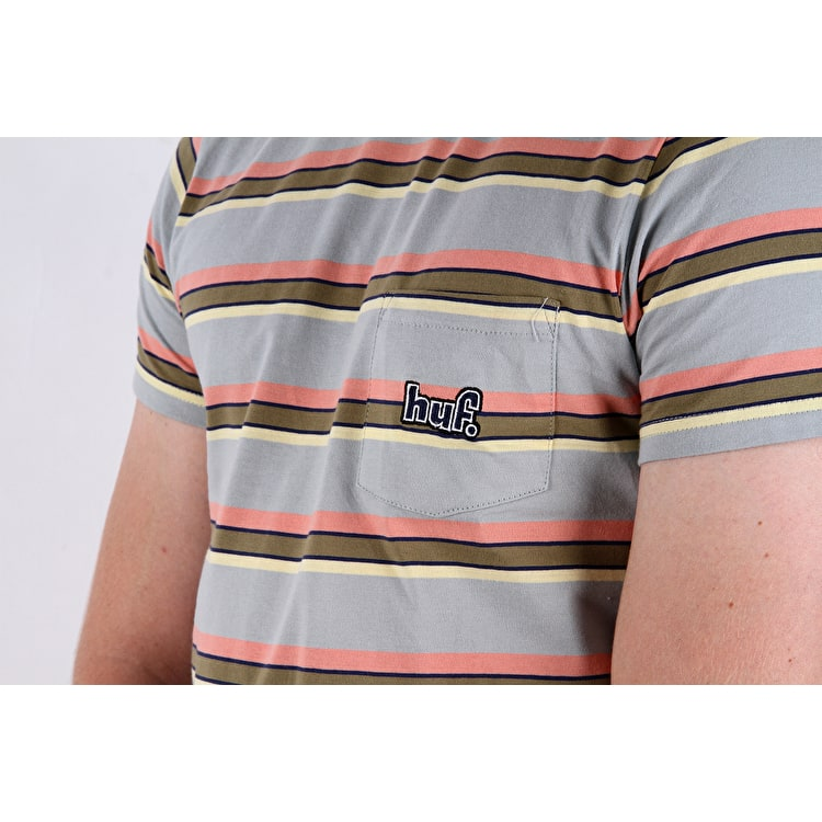 Huf 1993 Stripe Knit T-Shirt - Ballad Blue