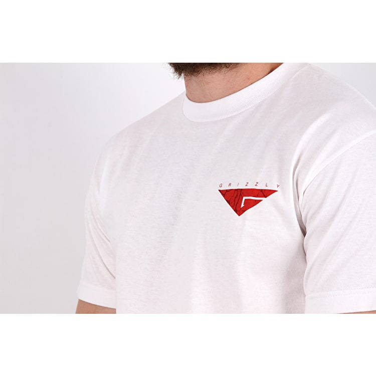 Grizzly Cement T Shirt - White