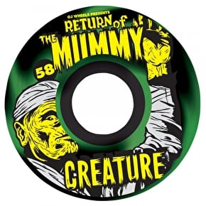 OJ x Creature Return Of The Mummy Keyframe Skateboard Wheels - Black/Green Swirl 58mm 87a (Pack of 4)