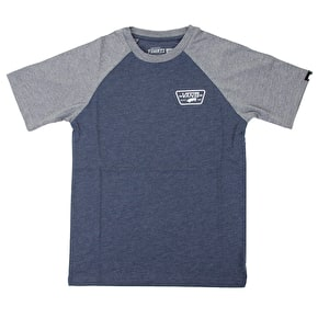 Vans Full Patch Raglan Kids T-Shirt - Heather Navy/Grey
