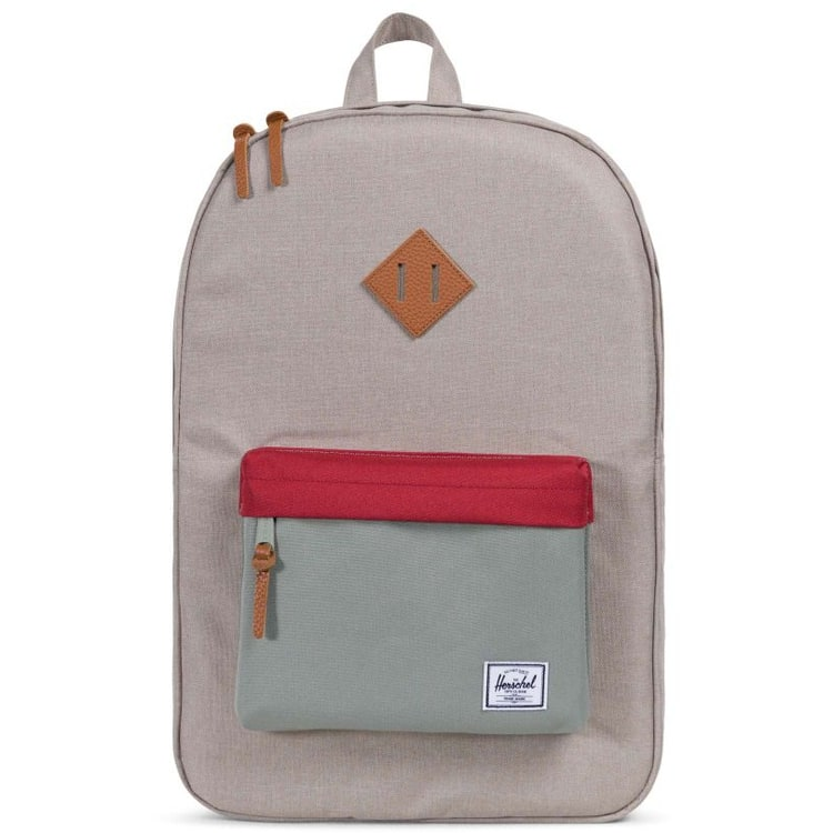 Herschel Heritage Backpack - Light Khaki Crosshatch/Shadow/Red