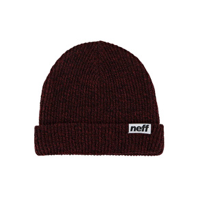 Neff Fold Heather Beanie - Navy/Maroon