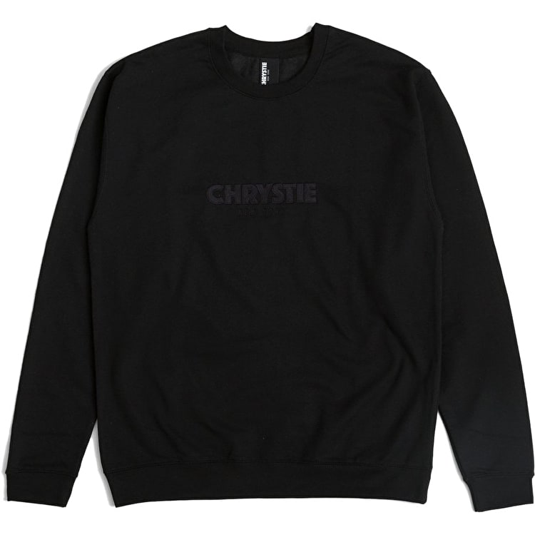 Chrystie OG Logo Crew Neck - Black