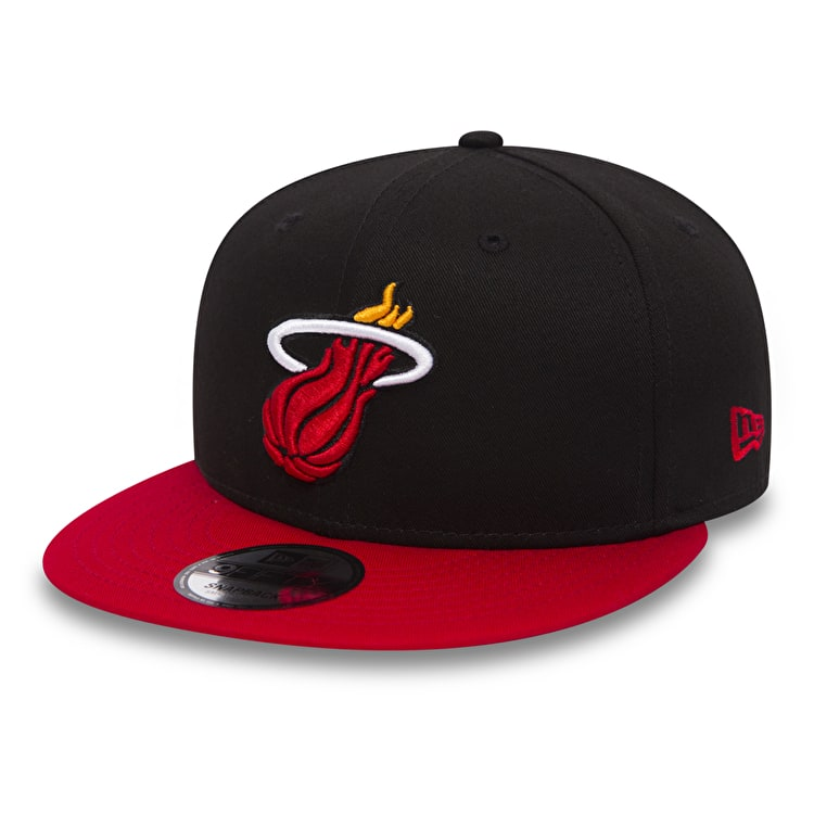 New Era 9Fifty Black Base Snapback Cap - Miami Heat