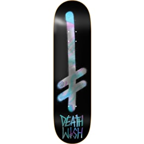 Deathwish Gang Logo Skateboard Deck - Oil Slick 7.75