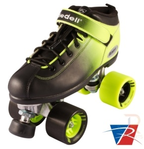 Riedell Quad Skates - Dart Ombre Black/Yellow