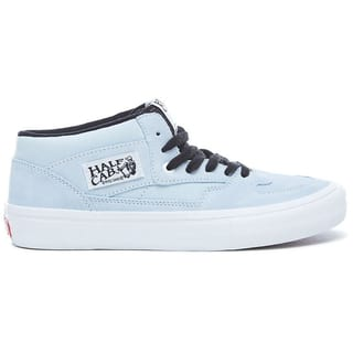 Vans Half Cab Pro Skate Shoes - Baby Blue/White