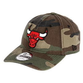 New Era Washed Camo 940 Chicago Bulls Cap - Woodland Camo