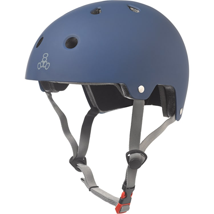 Triple 8 Brainsaver Dual Certified Helmet - Blue Rubber