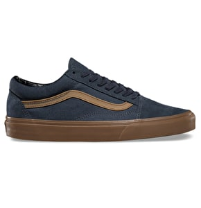 Vans Old Skool Shoes - (Gum Sidestripe) Ebony