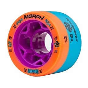 Reckless Morph Dual Durometer Derby Wheels-88A/93A Blue