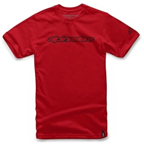 Alpinestars Wordmark T-Shirt - Red