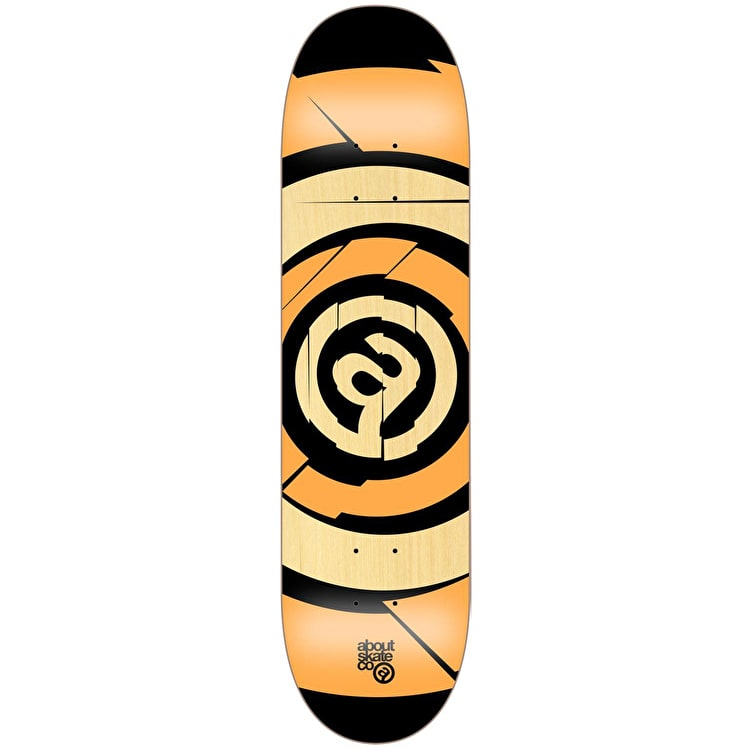 About Team Series Target Skateboard Deck - Fluo Orange 8.25""