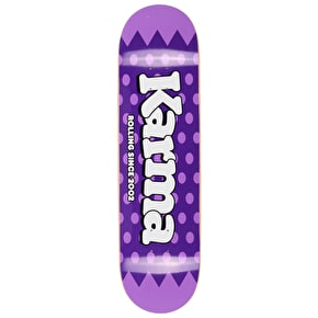 Karma Lolli Pop Skateboard Deck - Blackcurrant 8.375