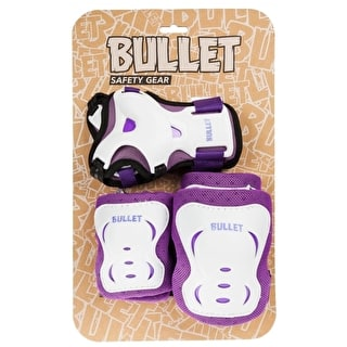 Bullet Blast Junior Triple Padset - Purple/White