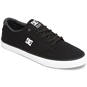 DC Nyjah Vulc TX Skate Shoes - Black/White