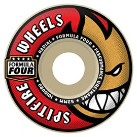 Spitfire Formula Four Radial 101D Skateboard Wheels - Red 52mm (Pack of 4)