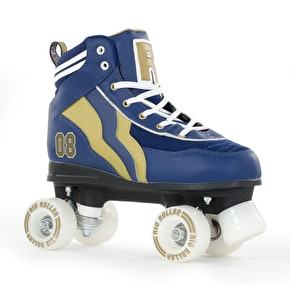Rio Roller Varsity Quad Skates - Blue/Gold UK 5 (B-Stock)