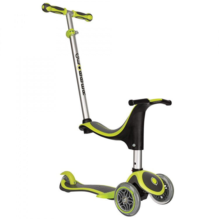 Globber Evo 4-In-1 Plus Complete Scooter - Lime Green