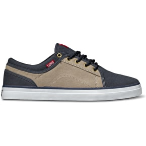 DVS Aversa Shoes - Navy/Tan Canvas