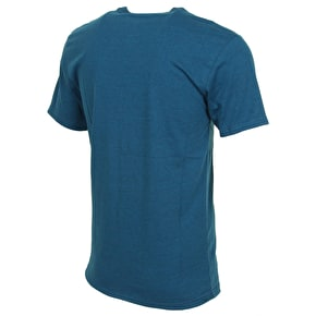 Fox Processed T-Shirt - Heather Marine Blue