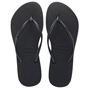 Havaianas Ladies Slim Flip Flops - Black