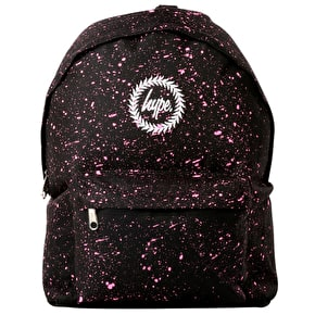 Hype Speckle Backpack - Black/Pink