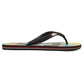 DC Spray Graffik Flip-Flops - Black/Multi