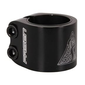 Fasen 2 Bolt Double Scooter Collar Clamp - Black