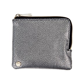 Mi-Pac Pebbled Coin Holder - Silver/Black