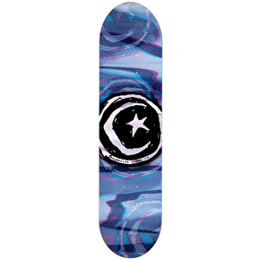 Foundation Star & Moon Skateboard Deck - Glitch