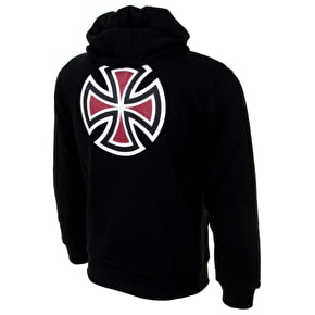 Independent Bar Cross Kids Zip Hoodie - Black