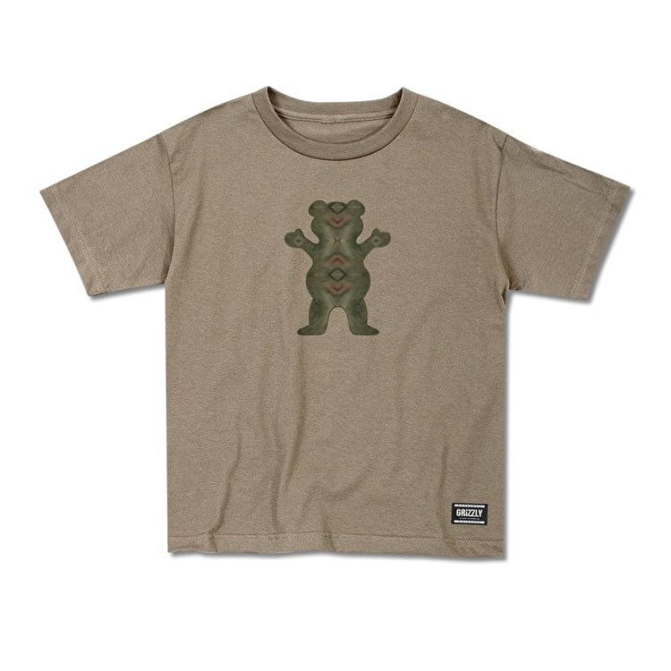 Grizzly Forester OG Bears Cubs T-Shirt - Khaki