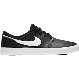 Nike SB Portmore II Solar PRM Skate Shoes - Black/White