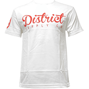 District Supply Co. Script T-Shirt - White