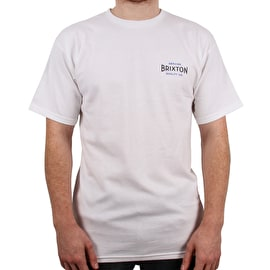 Brixton Cinema Standard T Shirt - White/Blue