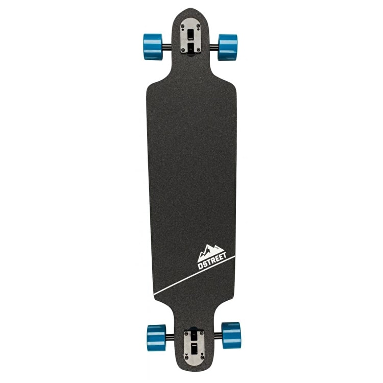 D-Street Polygon Hex Drop-Through Complete Longboard - Blue 37.5""