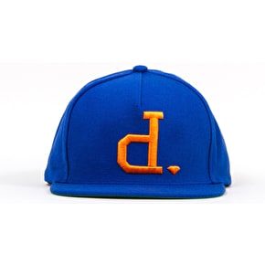 Diamond Un-Polo Snapback Cap - Royal Blue / Orange