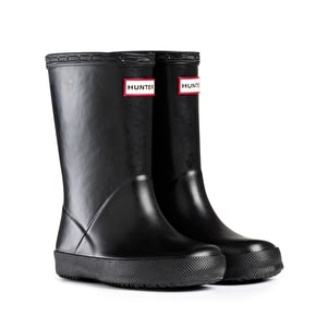 Kids Hunter First Wellington Boots Black