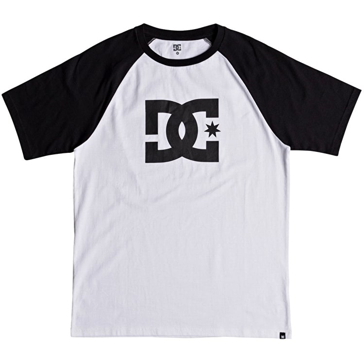 DC Star Raglan T Shirt - Black/Snow White