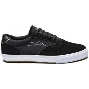 Lakai Guymar Skate Shoes - Black/White Suede