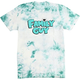 Diamond Supply Co X Family Guy Crystal Wash T Shirt - Diamond Blue