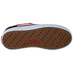 Lakai Kids Pico Select Shoes - Black/Red Suede